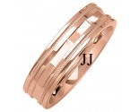 Rose Gold Designer Wedding Band 6mm RG-1373