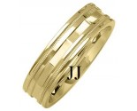 Yellow Gold Designer Wedding Band 6mm YG-1373