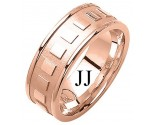 Rose Gold Fancy Wedding Band 8mm RG-1374