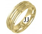 Yellow Gold Fancy Wedding Band 7mm YG-1375
