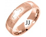Rose Gold Fancy Wedding Band 6mm RG-1376