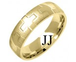 Yellow Gold Fancy Wedding Band 6mm YG-1376