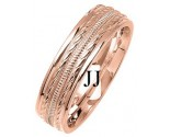 Rose Gold Fancy Wedding Band 6mm RG-1377