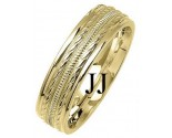 Yellow Gold Fancy Wedding Band 6mm YG-1377