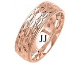 Rose Gold Fancy Wedding Band 7mm RG-1379