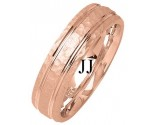 Rose Gold Fancy Wedding Band 6mm RG-1380