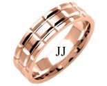 Rose Gold Fancy Wedding Band 6mm RG-1382