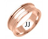Rose Gold Fancy Wedding Band 7.5mm RG-1384