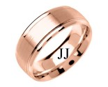 Rose Gold Fancy Wedding Band 8mm RG-1385