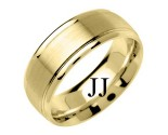Yellow Gold Fancy Wedding Band 8mm YG-1385