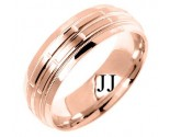Rose Gold Fancy Wedding Band 6mm RG-1387