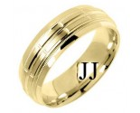 Yellow Gold Fancy Wedding Band 6mm YG-1387