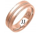 Rose Gold Fancy Wedding Band 7mm RG-1390