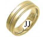 Yellow Gold Fancy Wedding Band 7mm YG-1390
