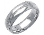 White Gold Fancy Wedding Band 7mm WG-1391