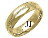 Yellow Gold Fancy Wedding Band 7mm YG-1391