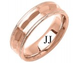 Rose Gold Fancy Wedding Band 7mm RG-1392