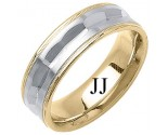 Two Tone Gold Fancy Wedding Band 7mm TT-1392