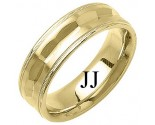 Yellow Gold Fancy Wedding Band 7mm YG-1392