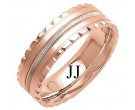 Rose Gold Fancy Wedding Band 7mm RG-1393