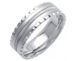 White Gold Fancy Wedding Band 7mm WG-1393