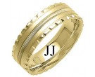 Yellow Gold Fancy Wedding Band 7mm YG-1393