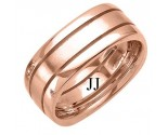 Rose Gold Fancy Wedding Band 8mm RG-1394