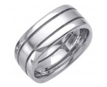 White Gold Fancy Wedding Band 8mm WG-1394