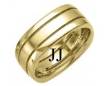 Yellow Gold Fancy Wedding Band 8mm YG-1394