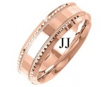 Rose Gold Fancy Wedding Band 7mm RG-1396