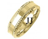 Yellow Gold Fancy Wedding Band 7mm YG-1396