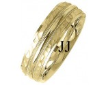 Yellow Gold Fancy Wedding Band 7mm WG-1397