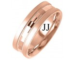 Rose Gold Fancy Wedding Band 7mm RG-1398