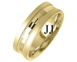 Yellow Gold Fancy Wedding Band 7mm YG-1398