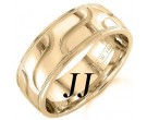 Yellow Gold Wave Wedding Band 7.5mm YG-1456