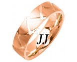 Rose Gold Shark Teeth Wedding Band 7mm RG-1462
