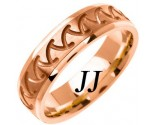 Rose Gold Shark Teeth Wedding Band 6mm RG-1466