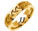 Yellow Gold Shark Teeth Wedding Band 6mm YG-1466