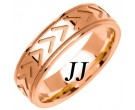 Rose Gold Arrows Wedding Band 6mm RG-1467