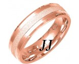 Rose Gold Sandblasted Wedding Band 6mm RG-1468