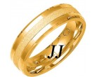 Yellow Gold Sandblasted Wedding Band 6mm YG-1468