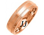 Rose Gold Fancy Wedding Band 6mm RG-1469