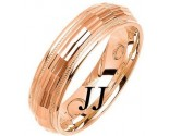 Rose Gold Fancy Wedding Band 6mm RG-1470