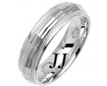 White Gold Fancy Wedding Band 6mm WG-1470