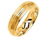 Yellow Gold Fancy Wedding Band 6mm YG-1470