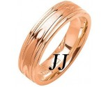 Rose Gold Fancy Wedding Band 6mm RG-1471