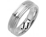 White Gold Fancy Wedding Band 6mm WG-1471