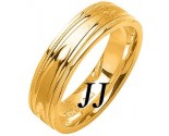 Yellow Gold Fancy Wedding Band 6mm YG-1471