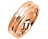 Rose Gold Fancy Wedding Band 6mm RG-1472