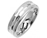White Gold Fancy Wedding Band 6mm WG-1472